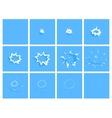 water drop splash animation frames effect vector image vector image