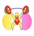 Weightlifter with a barbell vector image vector image