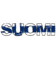 word suomi finnish translation of finland with vector image vector image