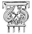 wrought-iron pilaster capital wrought-iron vector image vector image