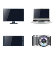 Set of devices Stock vector image
