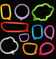 Speech Bubbles Borders vector image
