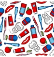 Oral hygiene and dental care seamless pattern vector image