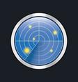 radar screen hud interface element vector image