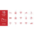 15 stone icons vector image vector image