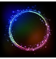 Abstract dark background with color light vector image vector image