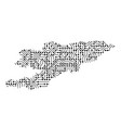 abstract schematic map of kyrgyzstan from the vector image vector image