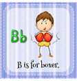 Alphabet B is for boxer vector image