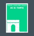 arc de triomphe place charles de gaulle monument vector image
