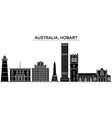 australia hobart architecture city skyline vector image vector image