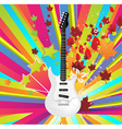 Autumn Guitar Icon vector image