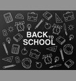 back to school black board banner school vector image vector image