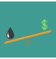 Balance between oil and dollar Dollar sign and oil vector image vector image