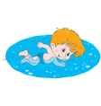 Boy swimming vector image vector image