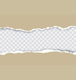 brown ripped paper background with transparency vector image vector image