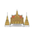 buddhist temple building in thailand vector image vector image