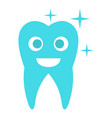 caried tooth icon flat style vector image