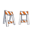 Cartoon Road Barriers vector image vector image