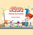 certificate template design for science award wit
