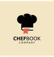 chef book logo design vector image vector image