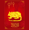chinese new year design for year of rat vector image vector image
