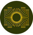 Circuit board element vector image vector image