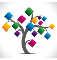 color paper note tree vector image vector image