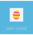 Colored Easter egg dash line frame Card Flat desig vector image vector image