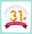 Colorful polygonal anniversary logo 3 031