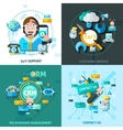 Customer Support Concept Icons Set vector image vector image