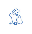 cute easter bunny line icon concept cute easter vector image vector image