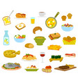 daily menu items vector image