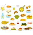 daily menu items vector image vector image