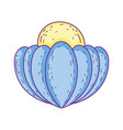 decorative shell isolated icon vector image