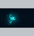digital 5g fifth generation technology background vector image vector image