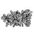Doodle floral element vector image vector image