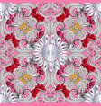 elegance floral ornamental seamless pattern hand vector image