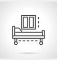 empty hospital bed simple line icon vector image vector image