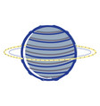 exploration neptune planet in the galaxy space vector image vector image