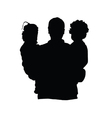 father with children silhouette vector image vector image