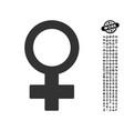 female symbol icon with men bonus vector image vector image