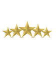 five golden star vector image vector image