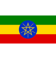 Flaf of Ethiopia vector image vector image