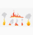 flames and smoke in various forms different types vector image vector image