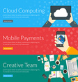 Flat design concept for cloud computing mobile vector image vector image