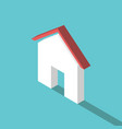 flat isometric small house vector image