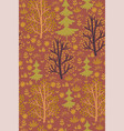 forest seamless pattern with trees vector image vector image
