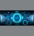 futuristic head-up display in hud style vector image vector image