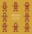 ginger bread collection vector image vector image