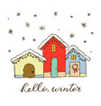 gingerbread christmas house design element for vector image vector image